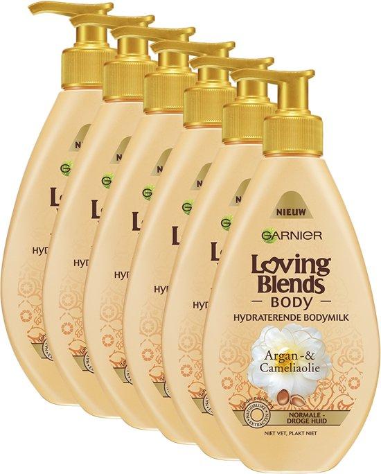 Garnier Loving Blends Body Argan- & Cameliaolie - 6 x 250ml - Bodymilk - Voordeelverpakking
