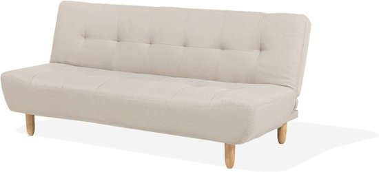 Beliani Alsten Slaapbank Beige polyester