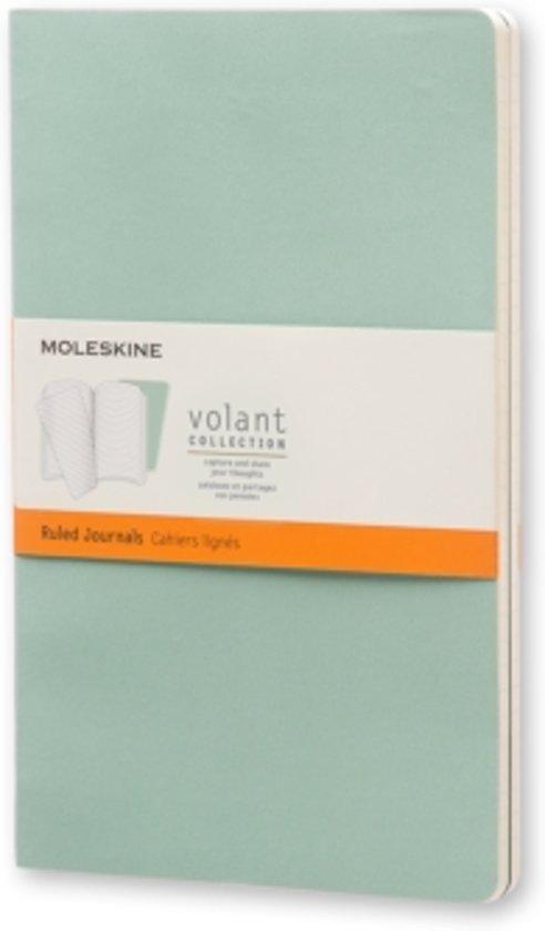 Moleskine Volant Journal (set of 2) Sage Green/Seaweed Green large ruled