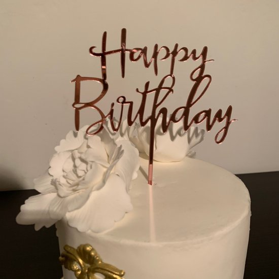 Astounding Bol Com Happy Birthday Cake Topper Lazy Font Roze Funny Birthday Cards Online Sheoxdamsfinfo