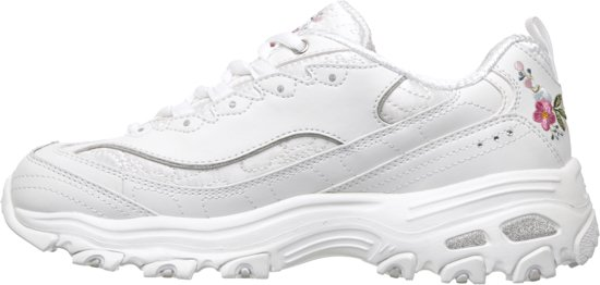 Skechers D'lites-bright Blossoms Sneakers Vrouwen - White- 38