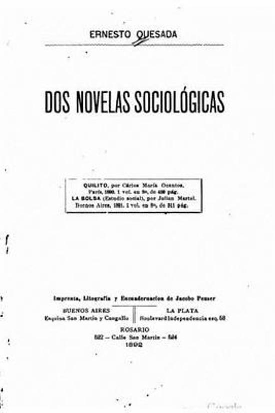 DOS Novelas Sociol gicas