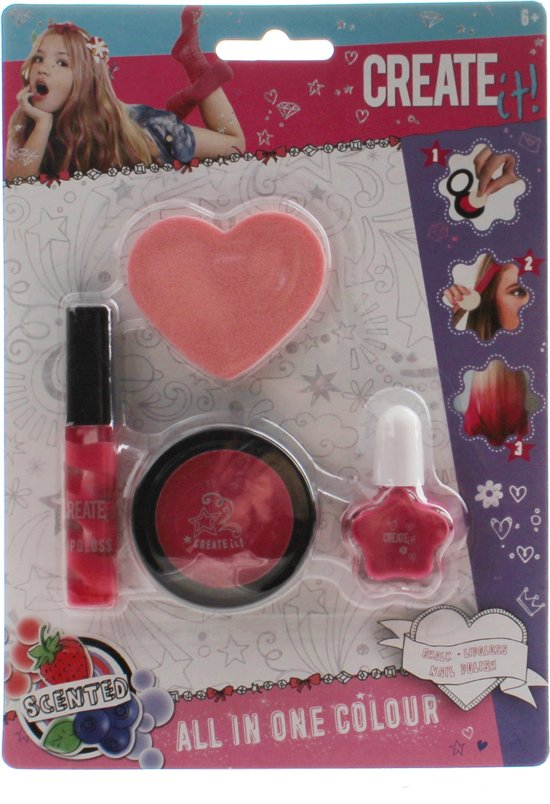 Create It! All In One Make-up Set 4-delig Roze