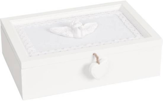 Kussen Wit 16 : Bol.com 6h0536 doos 24 x 16 x 7 cm hout wit