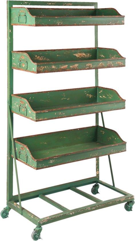 Rek 71*40*133 cm Groen | 5Y0395 | Clayre & Eef