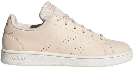 adidas Advantage Base Heren Sneakers - Linen/St Pale Nude/Cloud White -  Maat 3-