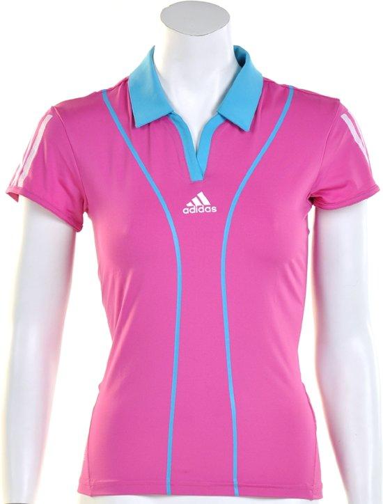 c1759577bf5 adidas Women's Barricade Cap Polo - Sportpolo - Dames - Maat 38 - Roze;Licht