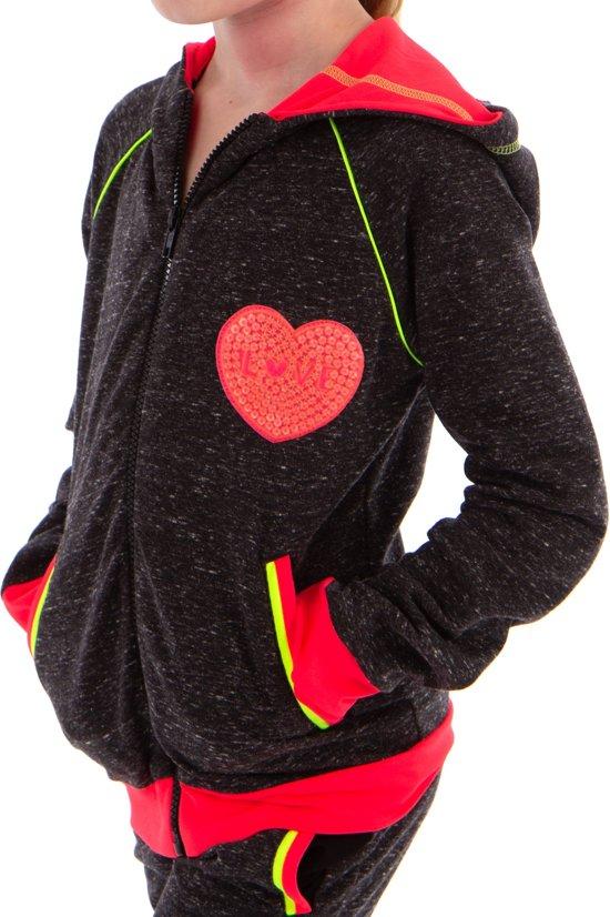 42b6766b257 Papillon Sweater Met Rits En Capuchon Meisjes Grijs Maat 104