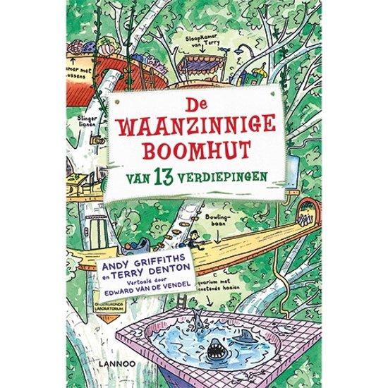 Boek cover De Waanzinnige Boomhut 1 - De waanzinnige boomhut van 13 verdiepingen van Andy Griffiths (Hardcover)