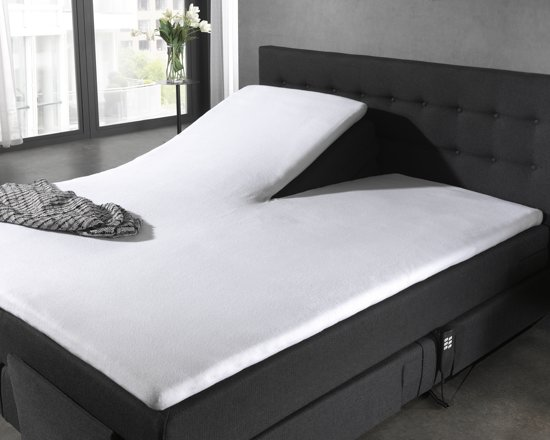 Home Care - Molton splittopper - Katoen - 120/140 x 200 cm - Wit