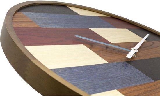 NeXtime Patch Wood Wandklok à 45 cm