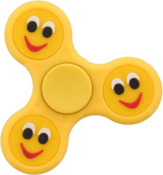 Afbeelding van het spel Gele Fidget spinner met Emoji.