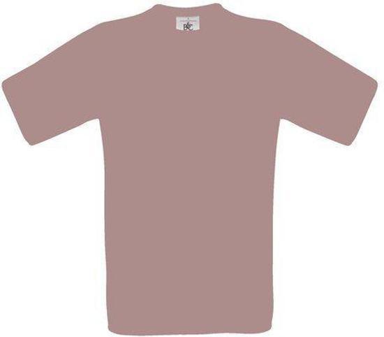 B&C Exact 150 Heren T-shirt Used Violet Maat S (onbedrukt - 5 stuks)
