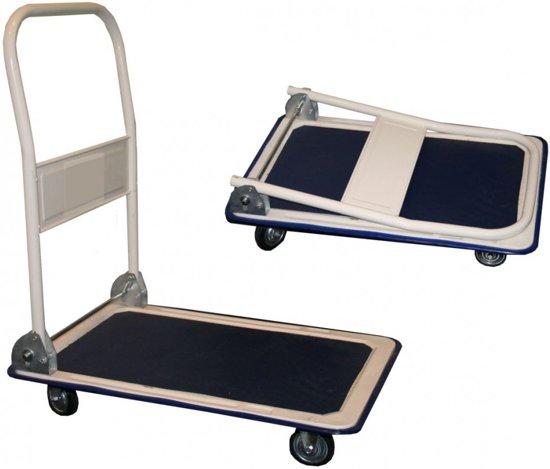 Platformwagen opvouwbaar 150 kg A-kwaliteit magazijnwagen plateauwagen transportwagen