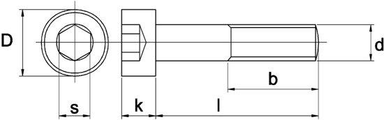 Huismerk - Binnenzeskantbout CK Din 912 8.8 Galv.verzinkt
