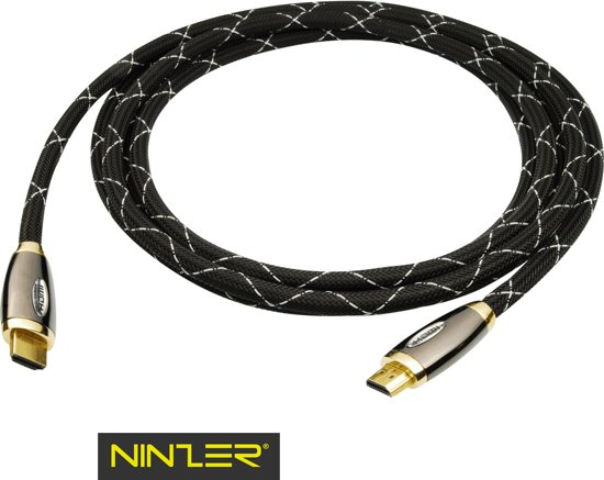Ninzer Premium High Speed HDMI kabel van 3 meter, 3D, Full HD, 4K met vergulde connectoren