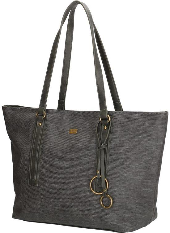 DAVID JONES Schoudertas Shopper Trendy Fashion Tas Antraciet Zwart