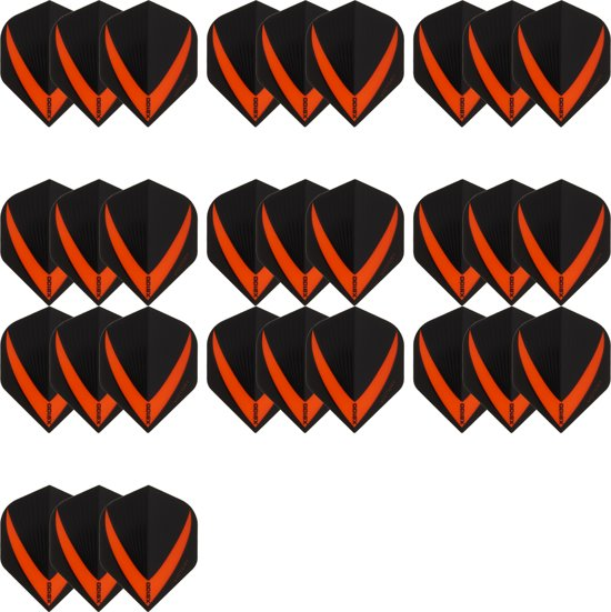 10 sets (30 stuks) Super Sterke – Oranje - Vista-X – darts flights – Dragon dartse
