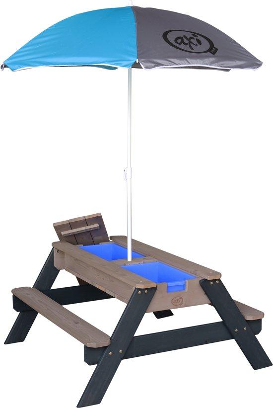 Speelhuis AXI Nick Zand & Water Picknicktafel Antraciet/grijs