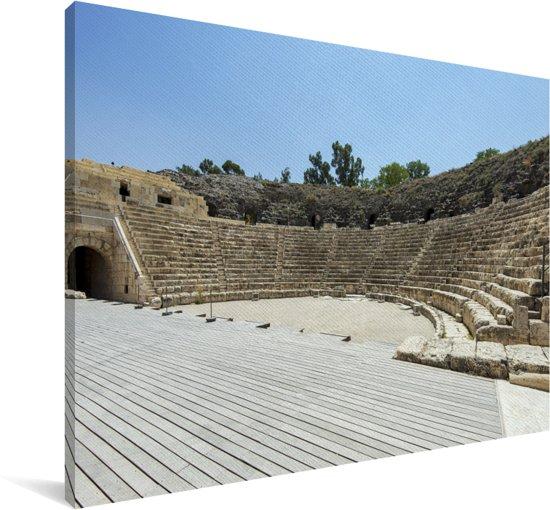 Het theater van Beit She'an in Israël Canvas 60x40 cm - Foto print op Canvas schilderij (Wanddecoratie woonkamer / slaapkamer)