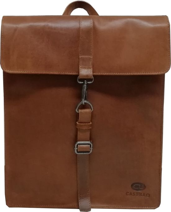 be2ee937ea3 bol.com | Castillo Cavan - Leren Laptop Backpack - 15,6 inch - cognac