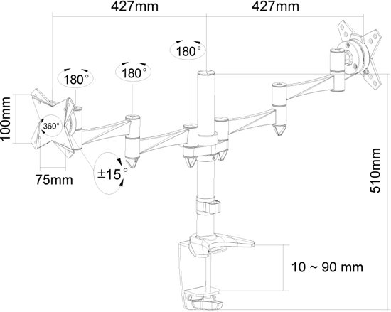 NewStar Monitorbeugel FPMA-D1330D