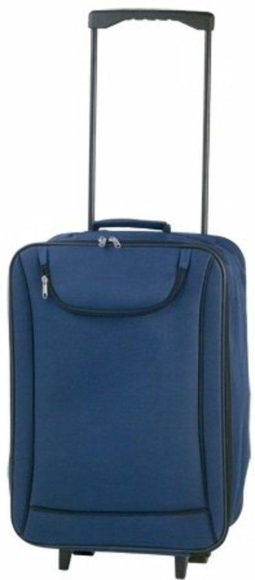 Handbagage trolley blauw 1,1 kg - rolkoffertje
