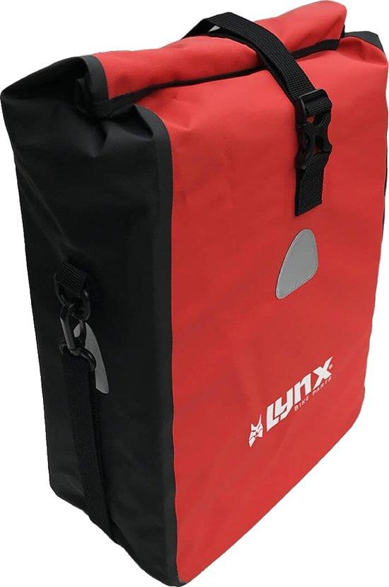 afda27471ca bol.com   Lynx Enkele fietstas Single Pannier bag 16L Rood-zwart