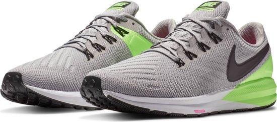 Nike Air Zoom Structure 22 Sportschoenen Heren - Atmosphere Grey/Burgundy Ash-L - Maat 43