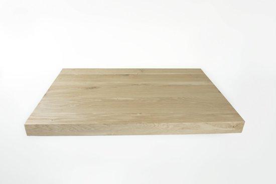 Eiken Werkblad   80x90x4   pure