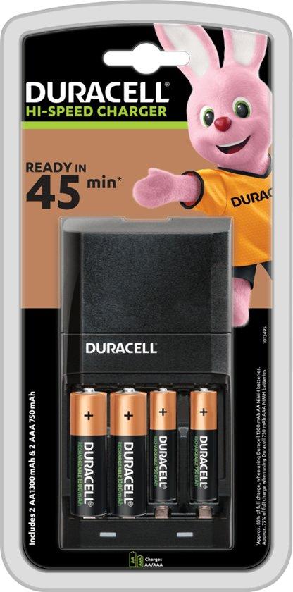 Duracell Speedy Oplader - 45 min Oplaadtijd - AA & AAA batterijen