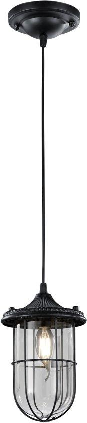 Trio Leuchten Porto - Hanglamp - 1 lichts - L 250 mm - Zwart