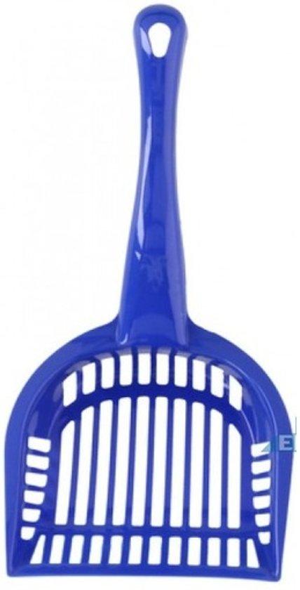 Hondenpoep schepje blauw 28 cm