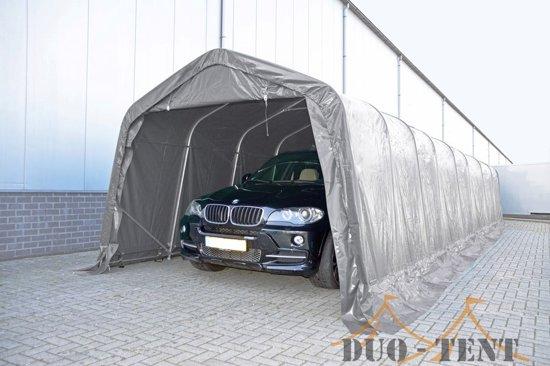 Carport Opslagtent 3,3x9,6 PVC Professional | Grijs