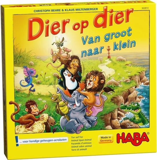 Afbeelding van het spel Haba - Spel - Dier op dier - Van groot naar klein