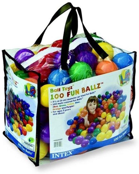 Intex 100 Ballen voor de Ballenbak 6,5 cm