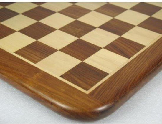 Afbeelding van het spel Goudbruin schaakbord uit Sheesham hout, 45 mm