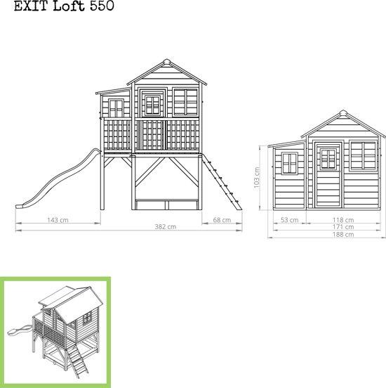 EXIT Loft 550 Speelhuisje