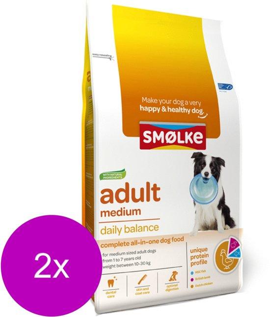 Smolke Adult Medium Brokken - Hondenvoer - 2 x 12 kg