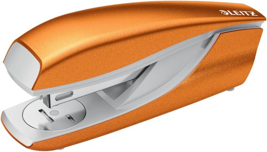 3x Leitz NeXXt WOW 5502 nietmachine, oranje metallic, op blister