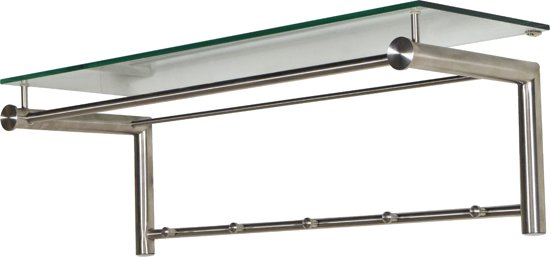 bol | spinder design suza 5 - kapstok - rvs/glas