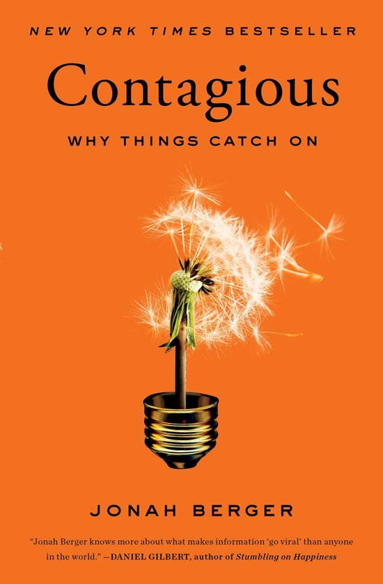 Boek cover Contagious van Jonah Berger (Paperback)