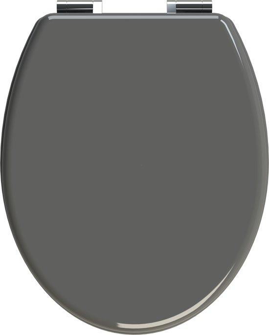 f4ceb864e9b9be Allibert wc-bril CILENTO - geperst hout - soft close - verchroomde  scharnieren - anthraciet