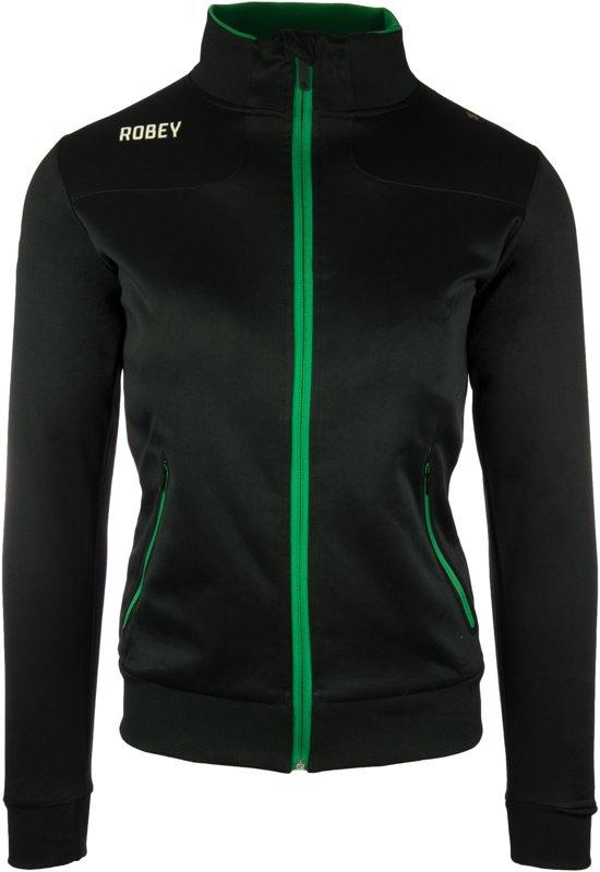 Robey Women Striker Trainingsjack - Voetbaljas - Black/Green - Maat 128