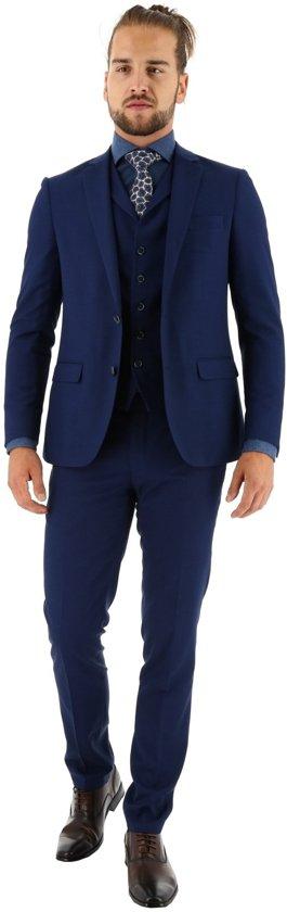 3-delig kostuum , indigo blue, maat 58
