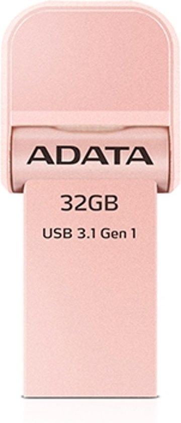 ADATA AI920, 32GB 32GB USB 3.0 (3.1 Gen 1) USB-Type-A-aansluiting Goud USB flash drive
