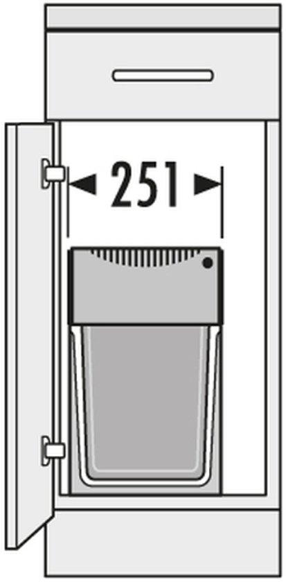Hailo Tandem de Luxe 15 + 15 liter
