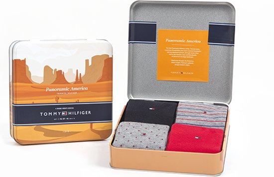 Tommy Hilfiger Sokken Panoramic Giftbox 4 pack Heren 39 42 Multi