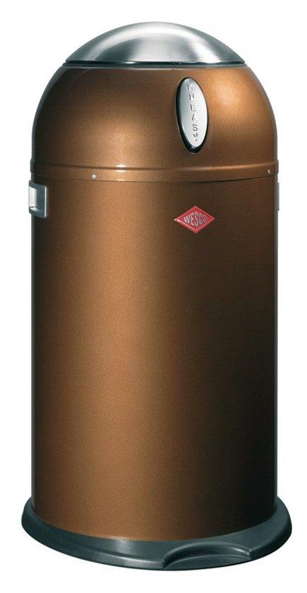 Wesco Kickmaster 33 Liter Bruin.Wesco Kneasy Prullenbak 33 L Chocolate Brown