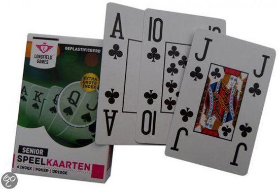 2x Senioren ( EXTRA GROTE INDEX ) speelkaarten Bridge Poker
